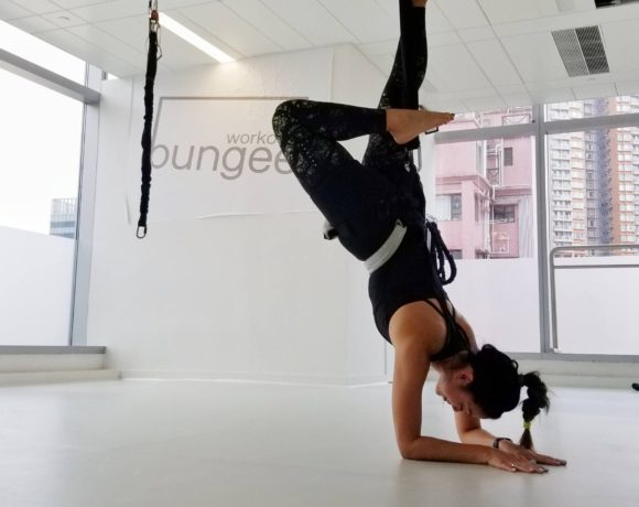 Bungee Workout Hong Kong Scorpion Pose