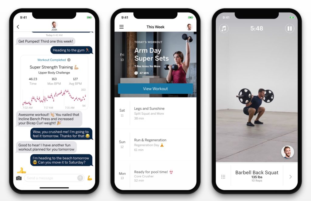 The new Future app pairs you up with a real-life personal trainer who keeps tabs on your workouts.