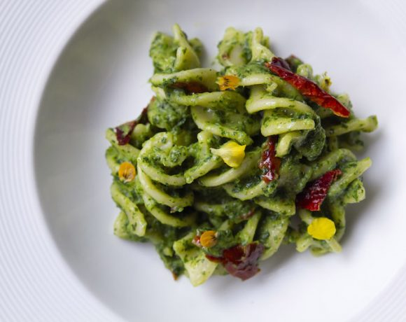 "FUSILLONE CON CIME DI RAPA E CRUSCO - Fusilli ""Spiral"" Pasta with Turnip Tips & ""Crusco"" Peppers1"