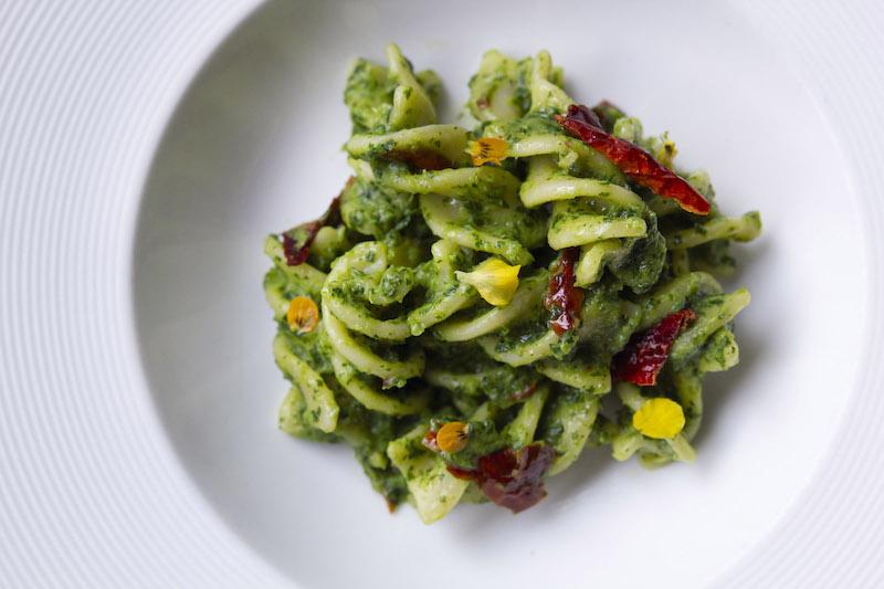 """FUSILLONE CON CIME DI RAPA E CRUSCO - Fusilli """"Spiral"""" Pasta with Turnip Tips & """"Crusco"""" Peppers1"""