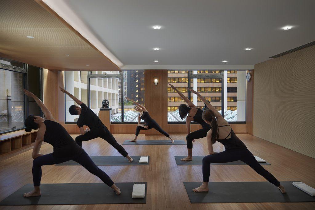 LMHKG The Oriental Spa group yoga class